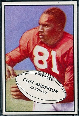 Cliff Anderson 1953 Bowman football card