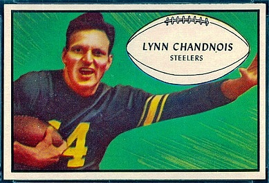 1953 Bowman Lynn Chandnois football card