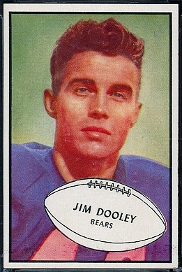 Jim Dooley 1953 Bowman football card
