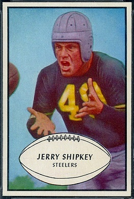 Jerry Shipkey 1953 Bowman football card