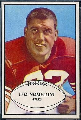 Leo Nomellini 1953 Bowman football card