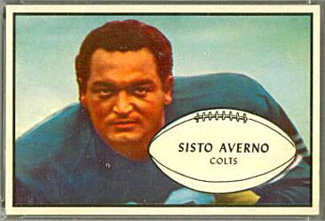1953 Bowman Sisto Averno football card