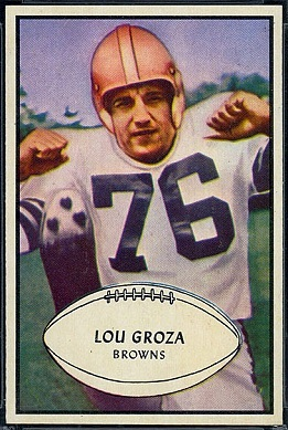 Lou Groza 1953 Bowman football card