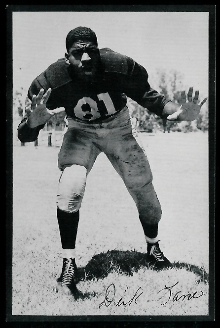 1953 Rams Team Issue Dick Lane football card