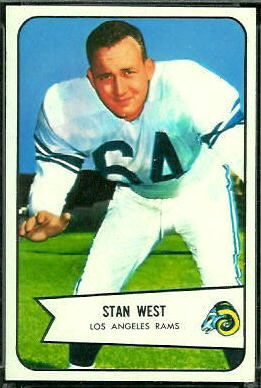 Stan West 1954 Bowman football card
