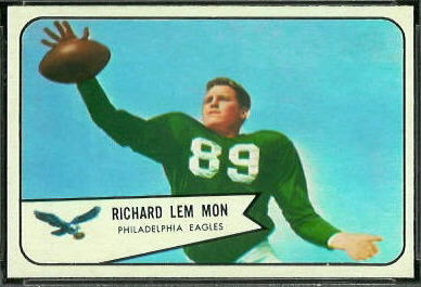 Richard Lemmon 1954 Bowman football card
