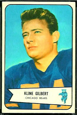 Kline Gilbert 1954 Bowman football card