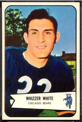 Wilford White 1954 Bowman football card
