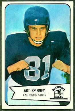 Art Spinney 1954 Bowman football card