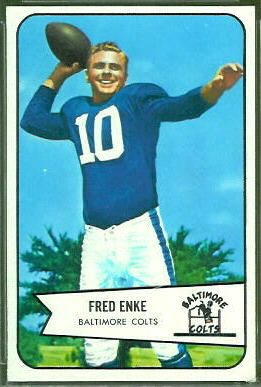 Fred Enke 1954 Bowman football card