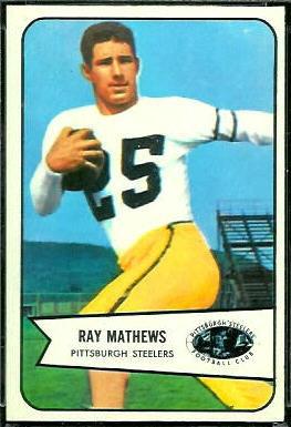 Ray Mathews 1954 Bowman football card