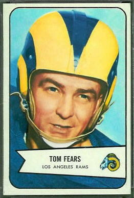 Tom Fears 1954 Bowman football card
