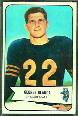George Blanda 1954 Bowman football card