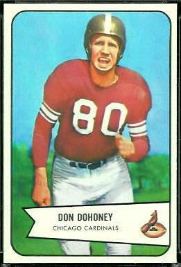 Don Dohoney 1954 Bowman football card