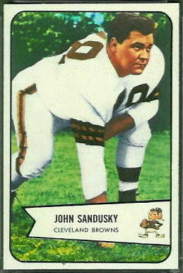John Sandusky 1954 Bowman football card