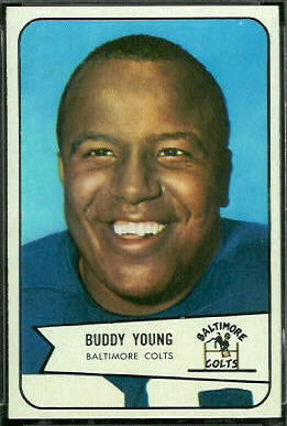 Buddy Young 1954 Bowman football card