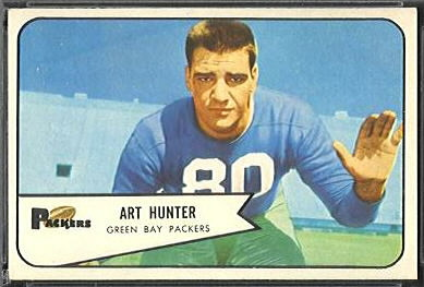 Art Hunter 1954 Bowman football card