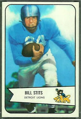 Bill Stits 1954 Bowman rookie football card