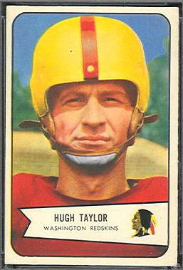 Hugh Taylor 1954 Bowman football card
