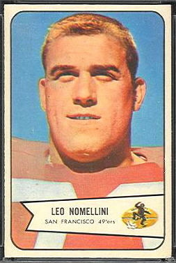 Leo Nomellini 1954 Bowman football card