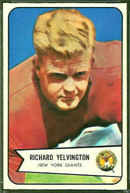 Dick Yelvington 1954 Bowman football card