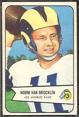 Norm Van Brocklin 1954 Bowman football card