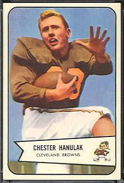 Chet Hanulak 1954 Bowman rookie football card
