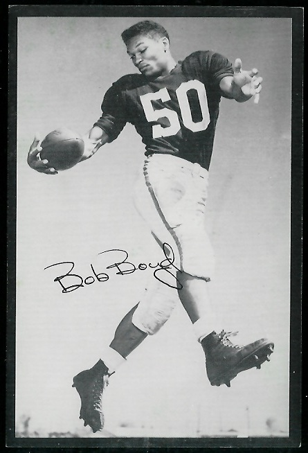 Bob Boyd 1954 Rams Team Issue football card