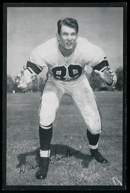 Duane Wardlow 1954 Rams Team Issue football card