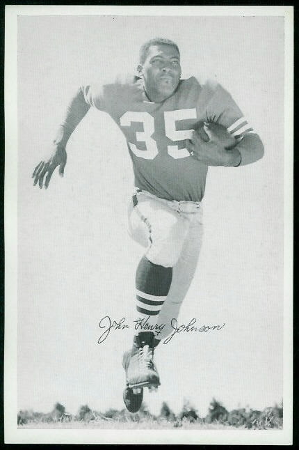 John Henry Johnson 1955 49ers Team Issue football card