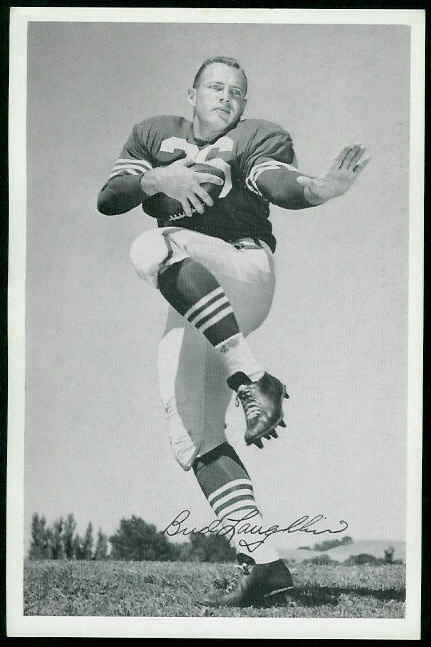 Bud Laughlin 1955 49ers Team Issue football card