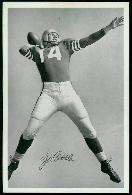 Y.A. Tittle 1955 49ers Team Issue football card