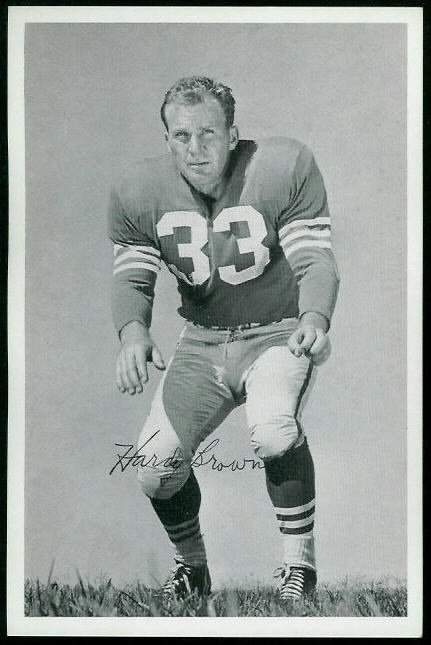 Hardy Brown 1955 49ers Team Issue football card