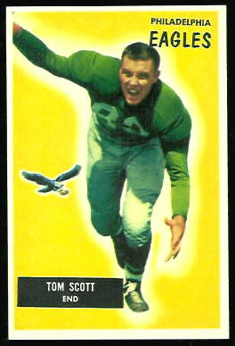Tom Scott 1955 Bowman football card