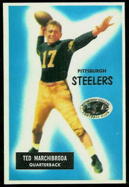 Ted Marchibroda 1955 Bowman football card