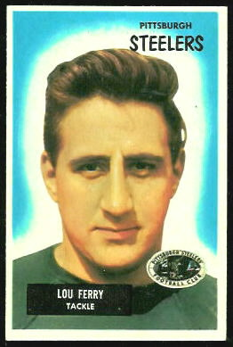 Lou Ferry 1955 Bowman football card