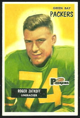 Roger Zatkoff 1955 Bowman football card