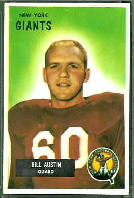 Bill Austin 1955 Bowman football card