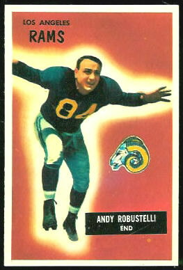 1955 Bowman Andy Robustelli football card
