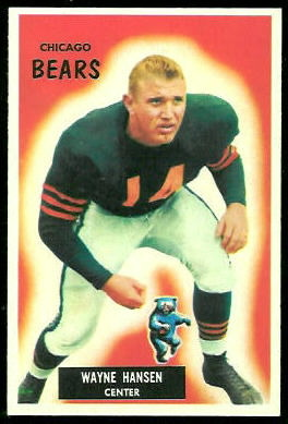 Wayne Hansen 1955 Bowman football card