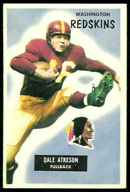Dale Atkeson 1955 Bowman football card