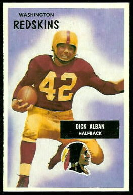 Dick Alban 1955 Bowman football card
