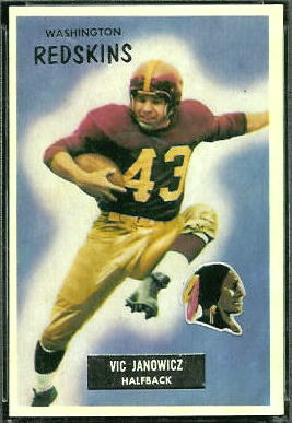 1955 Bowman Vic Janowicz football card