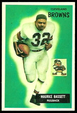 Maurice Bassett 1955 Bowman football card