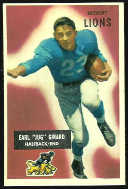 Jug Girard 1955 Bowman football card