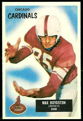 Max Boydston 1955 Bowman football card