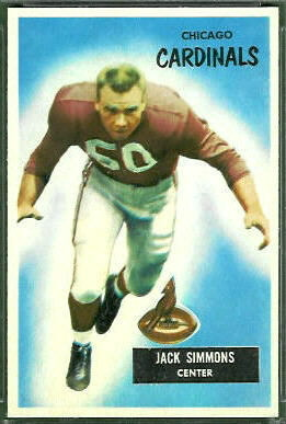 Jack Simmons 1955 Bowman football card