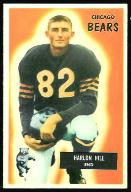 Harlon Hill 1955 Bowman rookie football card