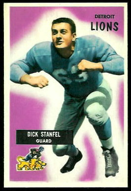 Dick Stanfel 1955 Bowman rookie football card