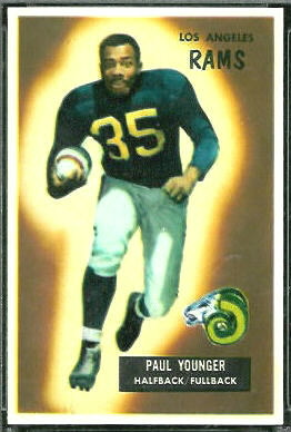 Tank Younger 1955 Bowman football card